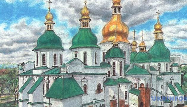 スシチェンコ記者、ロシアの収容所でソフィア大聖堂の絵を制作