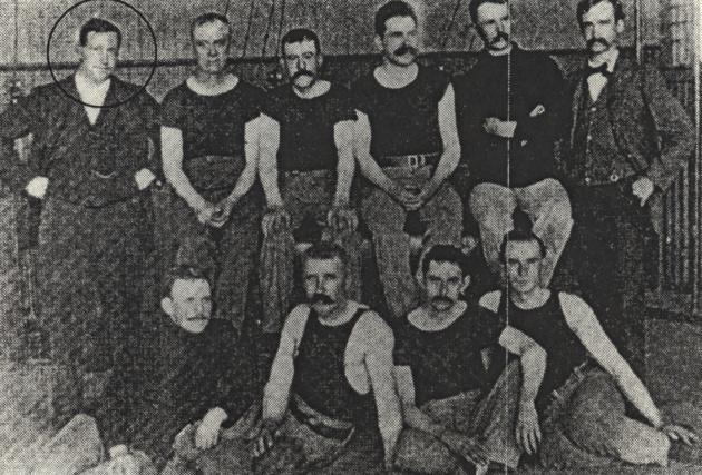 Уильям Морган с командой, 1895 г.