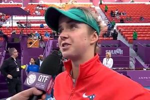 Svitolina pasa a las semifinales del torneo de tenis en Qatar (Vídeo)