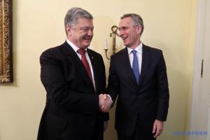 Poroschenko bespricht mit Stoltenberg Zusammenarbeit zwischen Ukraine und NATO