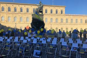 В Мюнхене прошла акция в поддержку «узников Кремля»