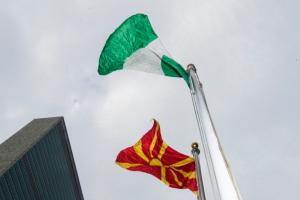 Перед штаб-квартирой ООН подняли флаг Северной Македонии