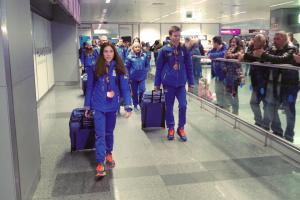 Украинская сборная вернулась домой с XIV зимнего Европейского юношеского олимпийского фестиваля