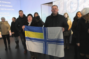В Днипре прошла акция в поддержку военнопленных моряков