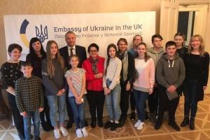 Учні Школи українознавства з Манчестера завітали до українського Посольства у Лондоні