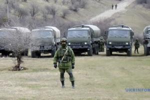 Возле Симферополя заметили военную колонну оккупантов