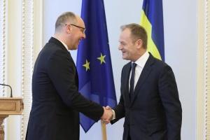 Парубий поблагодарил Туска: Твердая позиция ЕС сыграла ключевую роль в защите Украины