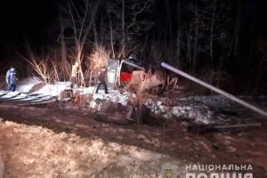 На Полтавщине грузовик влетел в отбойник, четверо погибших