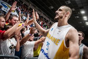 Баскетболист Лень поддержал сборную Украины перед матчем против Черногории