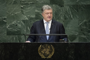 Poroshenko to UN General Assembly: Russia showing no intention to stop