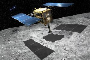 Японский зонд начал спускаться к астероиду Рюгу