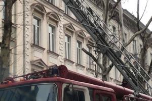 В Одессе горела многоэтажка, 40 человек эвакуировали