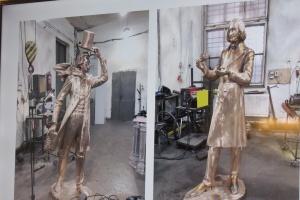 На новом туристическом маршруте в Полтаве появятся бронзовые Гоголь и Пушкин