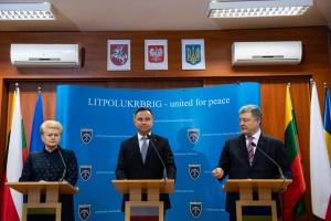 ЛитПолУкрБриг укрепляет перспективу вступления Украины в НАТО - Дуда