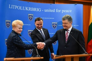 Presidents of Ukraine, Lithuania, Poland discuss 'Azov' package of sanctions against Russia