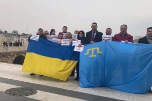У Македонії провели інформаційну акцію до 5-х роковин окупації Криму