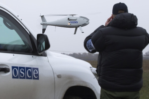 Invaders fire small arms at SMM UAV in Donetsk region