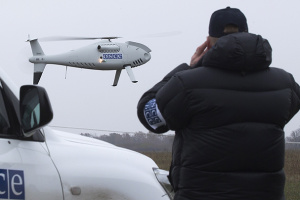 Безпілотник ОБСЄ зафіксував 3 потяги на Донбасі біля кордону з РФ
