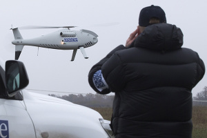 Militants fire at OSCE drone in Donbas for two days in a row