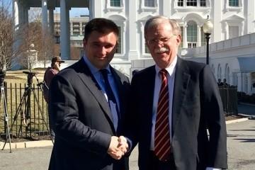 Klimkin, Bolton reaffirm common positions in Washington