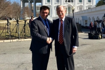 Klimkin y Bolton reafirman posiciones comunes en Washington