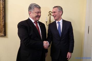 波罗申科与斯托尔滕贝格讨论乌克兰 - 北约合作