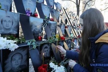"""Gebet für """"Himmlische Hundertschaft"""" in Kyjiw – Fotos"""
