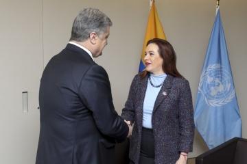 Poroshenko, Garcés discuss implementation of UNGA resolutions