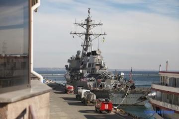 Le destroyer américain est arrivé au port d'Odessa