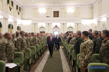Ukraine's strategy against Russian aggression must be based on active defense – Poroshenko