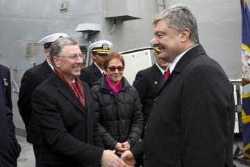 Porochenko a salué l'augmentation de la présence militaire américaine dans la mer Noire (Vidéo)