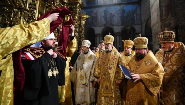 Zwierzchnik Ukraińskiego Kościoła Prawosławnego oficjalnie wstąpił na tron