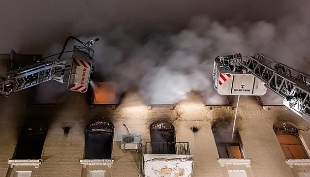 В історичній будівлі Москви  сталася пожежа, семеро загиблих