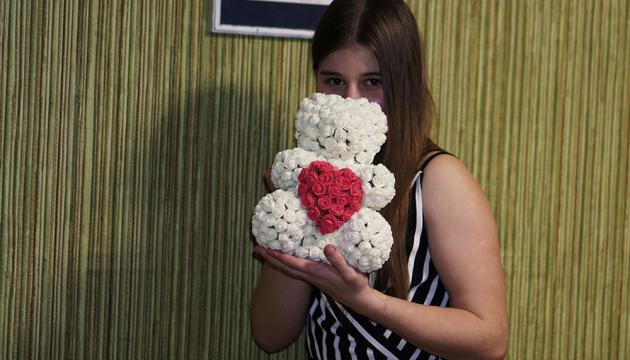 Мишки из 3d роз: новый тренд от служб доставки цветов в Киеве
