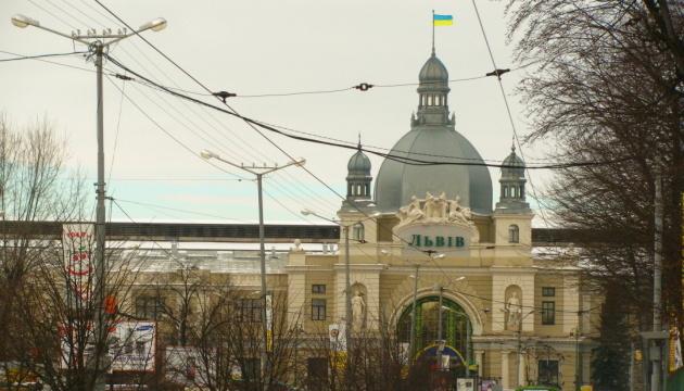 利沃夫火车站表演戏剧纪念克鲁特英雄
