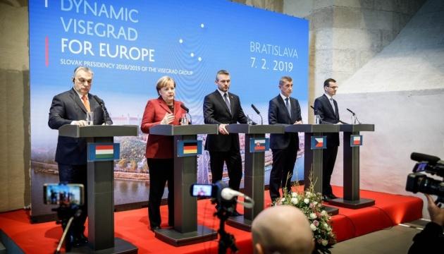 ФРГ и Вышеградская четверка согласились поддерживать НАТО и ЕС