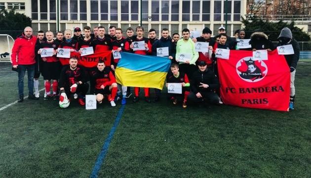 До підтримки Сущенка долучилися футболісти-аматори команди Bandera Paris