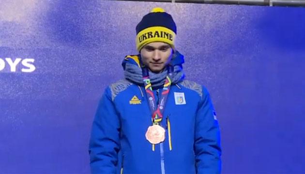 Бронзовий призер ЄЮОФ-2019 Кінаш отримав свою медаль на церемонії нагородження