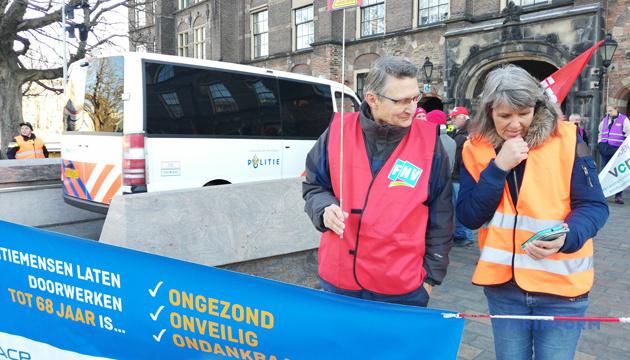 Нідерландські пенсіонери вийшли на вулиці, вимагаючи більших пенсій
