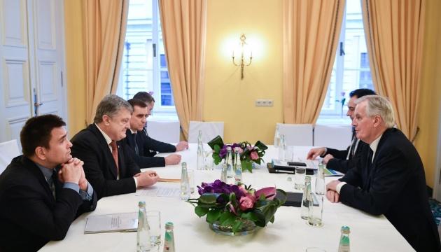 Порошенко призвал главного переговорщика Еврокомиссии поддержать новый