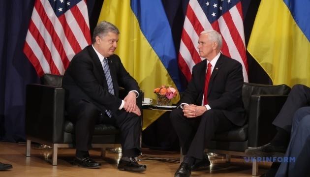 Poroschenko und Pence sprechen über russische Aggression