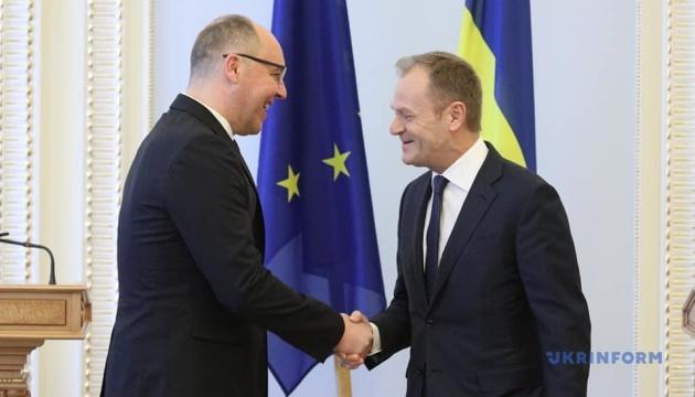 Парубій подякував Туску: Тверда позиція ЄС відіграла ключову роль в захисті України