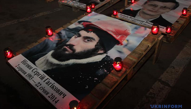 На Майдані шість років тому загинули перші Герої Небесної Сотні