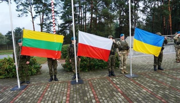 Poroszenko, Grybauskaite i Duda spotkali się z żołnierzami LITPOLUKRBRIG