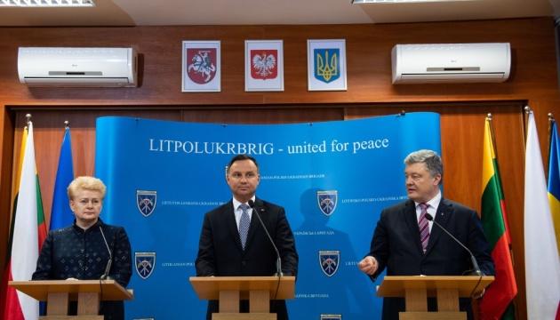 ЛитПолУкрБриг зміцнює перспективу вступу України в НАТО - Дуда