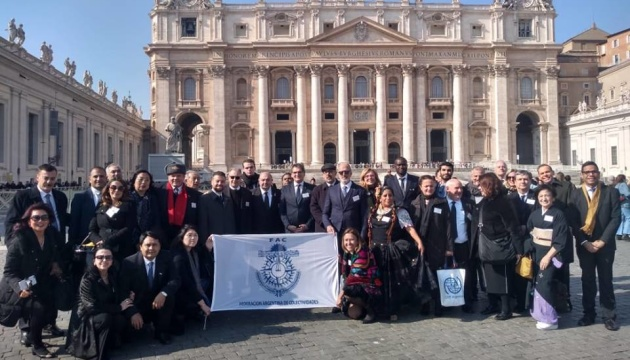 Українці Аргентини увійшли до складу делегації громад на зустрічі з Папою Римським
