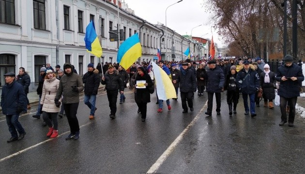 Українська діаспора прийшла на Марш Нємцова в Москві