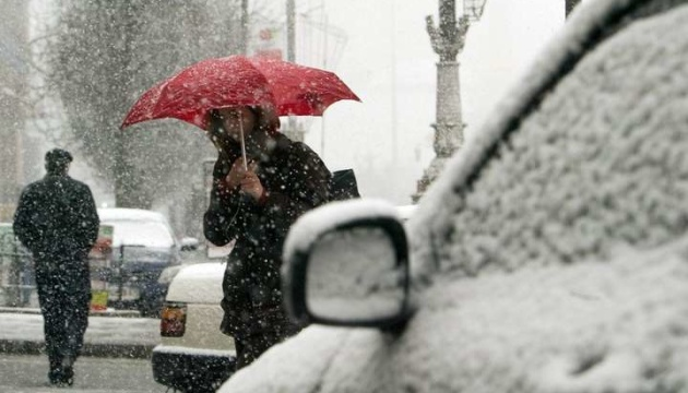 Киеву прогнозируют мокрый снег вечером и ночью