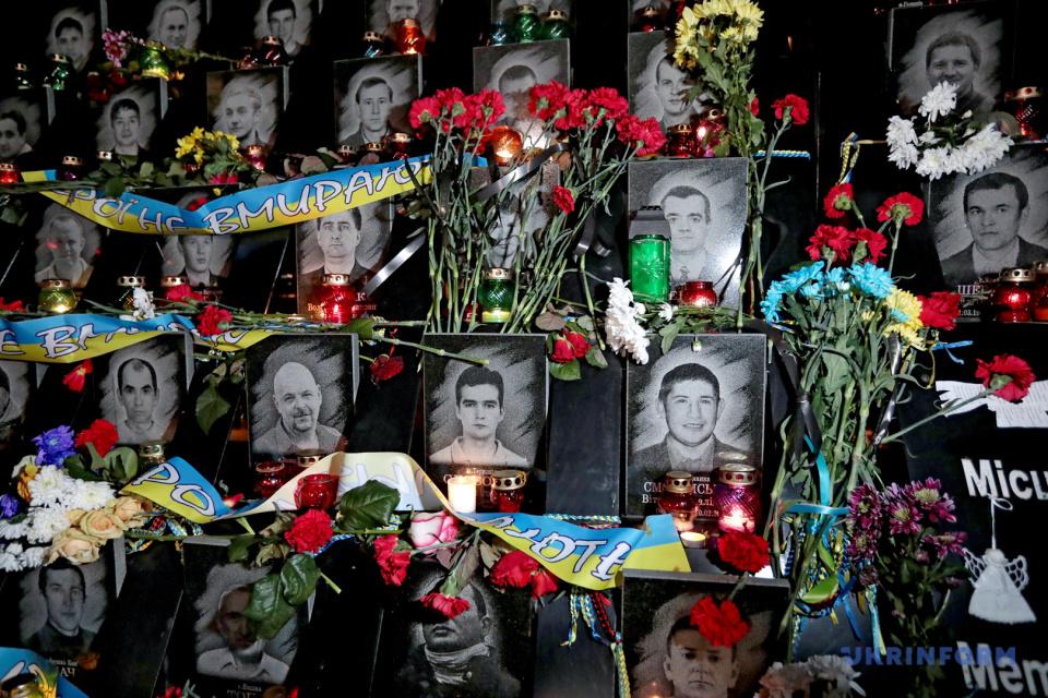 Les héros de la Centurie célèste honorés à Kyiv / Photo: Gennady Minchenko, Ukrifnorm