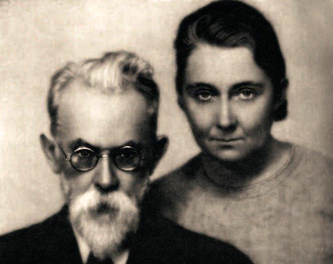 Володимир Вернадський з дружиною